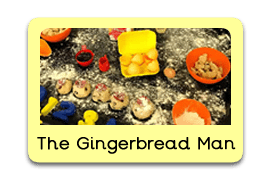 The Gingerbread Man Themed Tuff Trays for Toddlers-EYFS Children - Learning Through Play Sessions