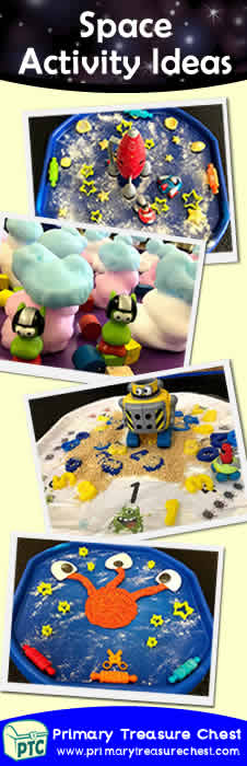 Space Themed Small World Multi-sensory Tuff Tray Activities - FREE Space Themed Teaching Resources