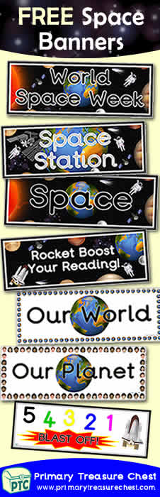 FREE Space Themed Teaching Resources