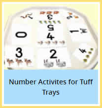 Number Activities Tuff Trays