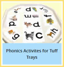 Phonics Activities Tuff Trays