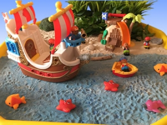 Pirates Themed Multi-sensory Tuff Tray Ideas and Activities