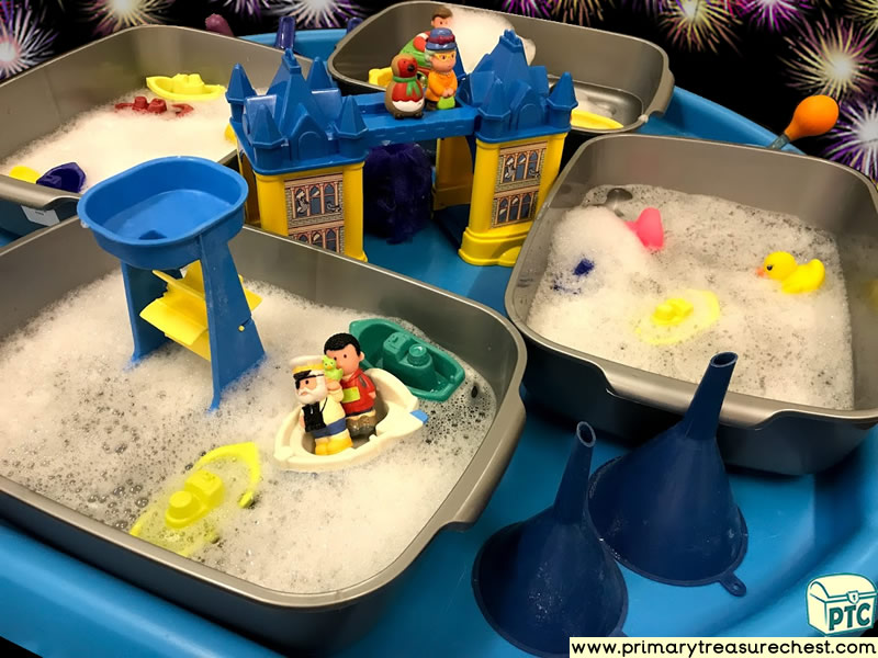 New Year - London - New Years Eve - Celebrations Themed Small World - Water Play - Multi-sensory Water Tuff Tray Ideas and Activities