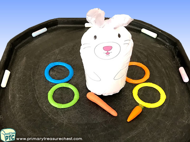 Easter - Easter Bunny - Rabbit Themed Mark Making Pre-Writing Patterns Letter Formation Multi-sensory Jumbo Chalks Tuff Tray Ideas and Activities