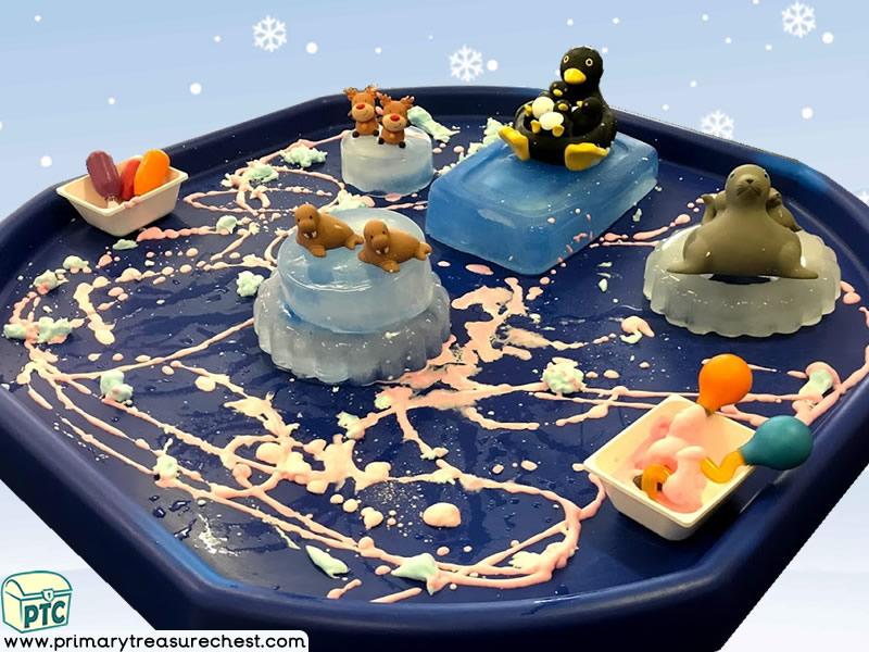 Winter – Polar Animals Themed Small World - Discovery Multi-sensory – Ice Tuff Tray Ideas and Activities