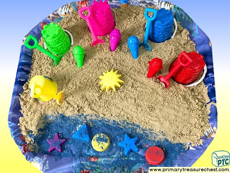 Seaside - Beach Themed Sand Multi-sensory Tuff Tray Ideas and Activities