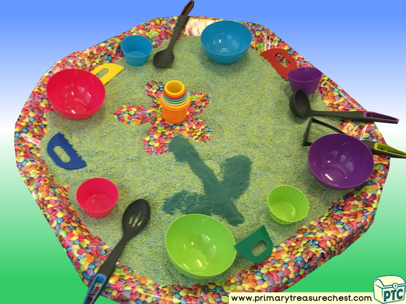 Flower Themed Discovery Multi-sensory - Rice Tuff Tray Ideas and Activities