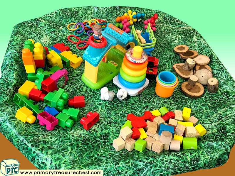 Farm Animals - Farm - Farmer Themed Small World - Construction Multi-sensory Tuff Tray Ideas and Activities