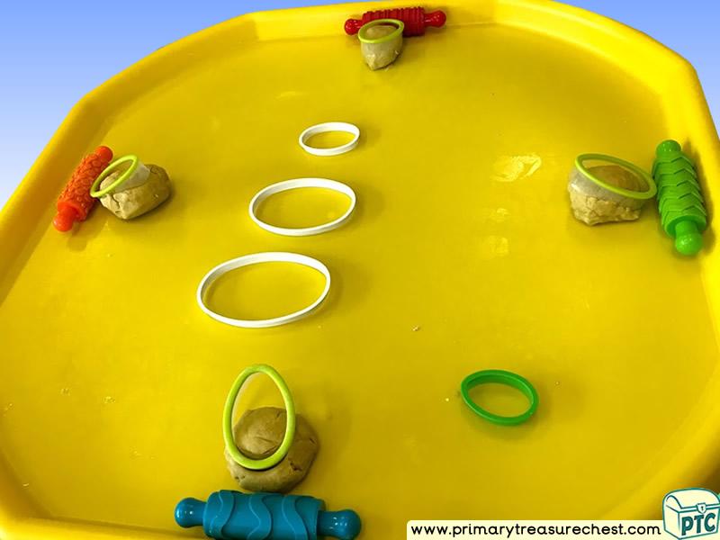 Easter - Egg Themed Multi-sensory Playdough Tuff Tray Ideas and Activities