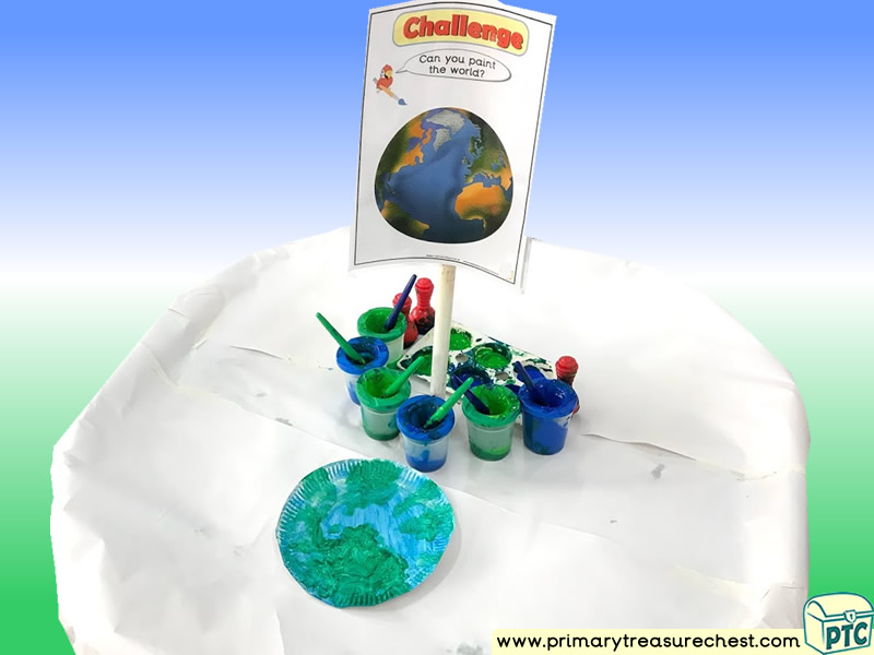 Our World Themed Creative Multi-sensory - Poster Paints Tuff Tray Ideas and Activities