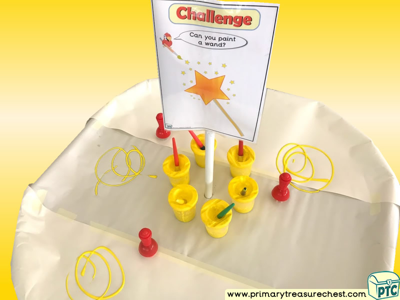 Colour Yellow Themed Creative - Multi-sensory - Poster Paints Tuff Tray Ideas and Activities
