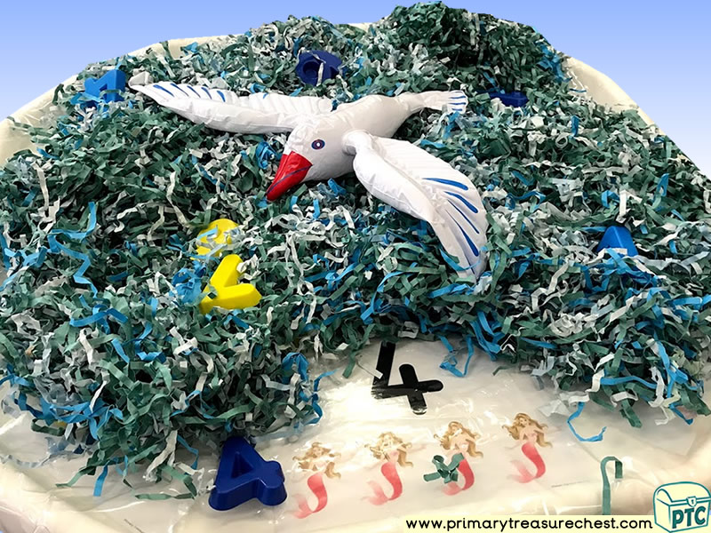 Sea life - Under the Sea - Mermaids - Seagull Themed Phonics - Phonic Readiness - Letter Sound - Multi-sensory Tuff Tray Ideas and Activities