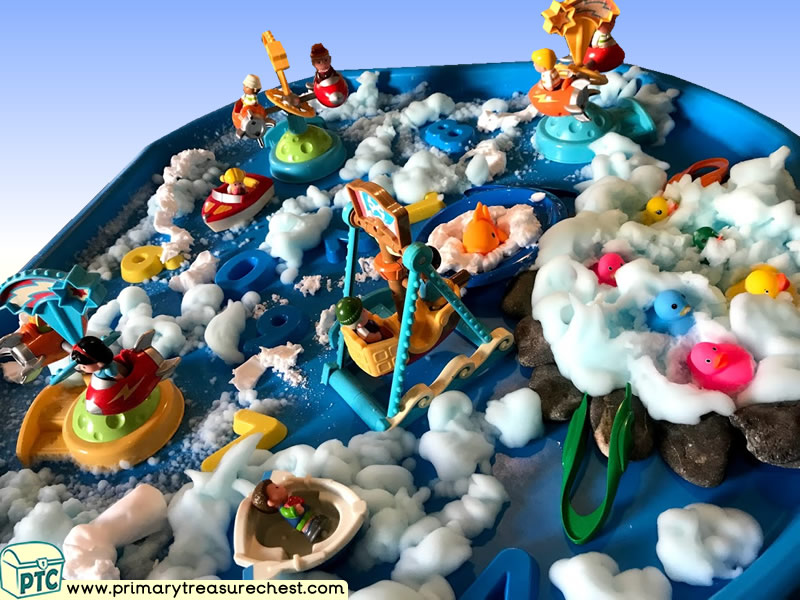 Fairground - Funfair - Fayre - Seaside Themed Small World Multi-sensory - Mouldable Soap Tuff Tray Ideas and Activities