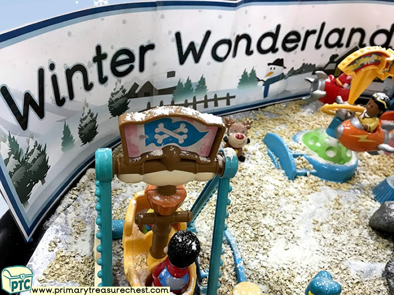 Winter - Winter Wonderland - Fun Fair Themed Small World Play - Multi- sensory Tuff Tray Ideas and Activities