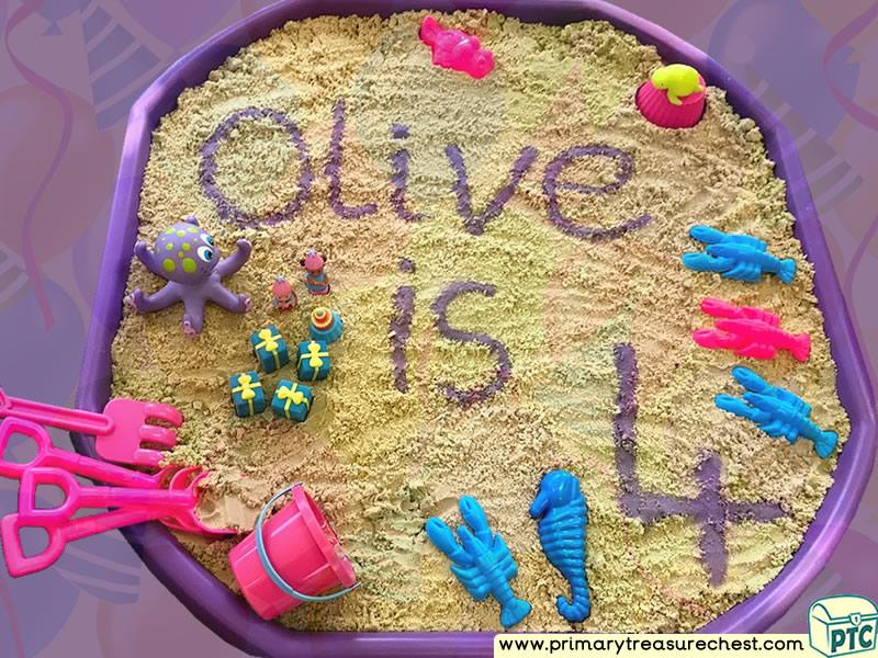 Birthday - Under The Sea Themed Small World - Multi-sensory - Sand Tuff Tray Ideas and Activities