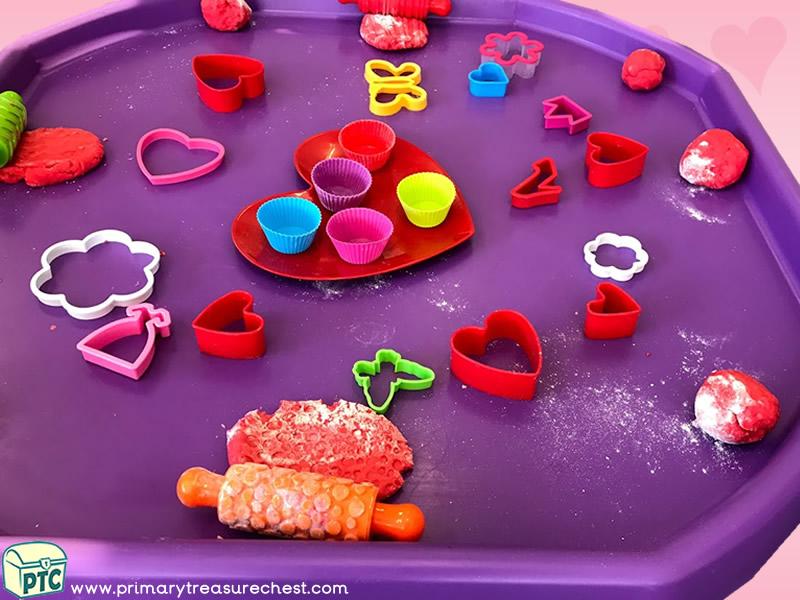 Valentine's Day - Dydd Santes Dwynwen Themed Playdough Multi-sensory – Playdough Tuff Tray Ideas and Activities