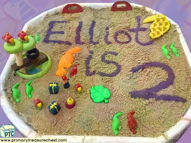 Birthday - Safari - Jungle Animal Themed Small World - Multi-sensory - Sand Tuff Tray Ideas and Activities