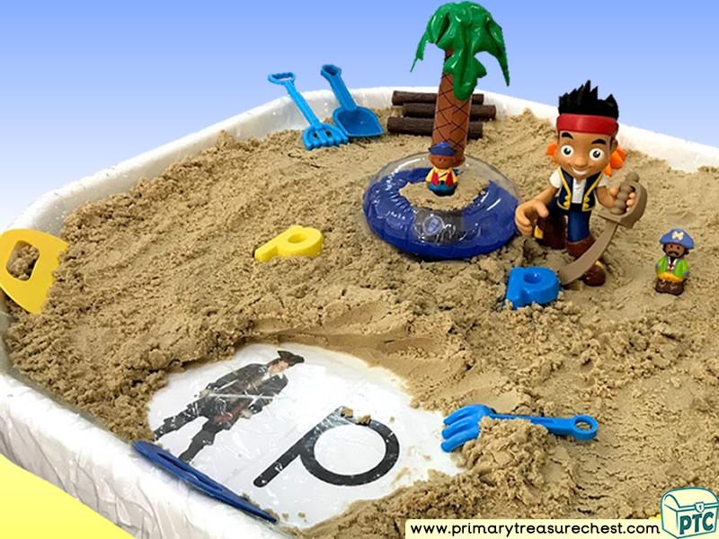 Pirates - Treasure - Pirate Island Themed Small World Multi-sensory - Sand Tuff Tray Ideas and Activities