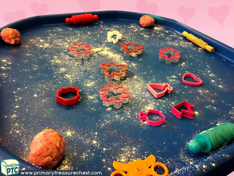Valentine's - Dydd Santes Dwynwen Themed Playdough Multi-sensory Tuff Tray Ideas and Activities
