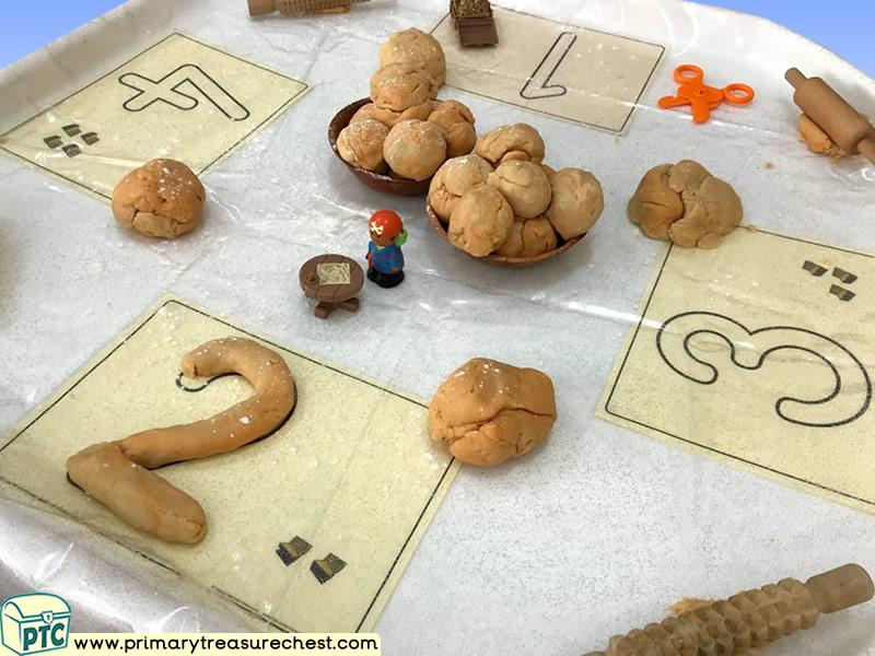 Pirates - Treasure Themed Numbers Multi-sensory - Playdough Tuff Tray Ideas and Activities