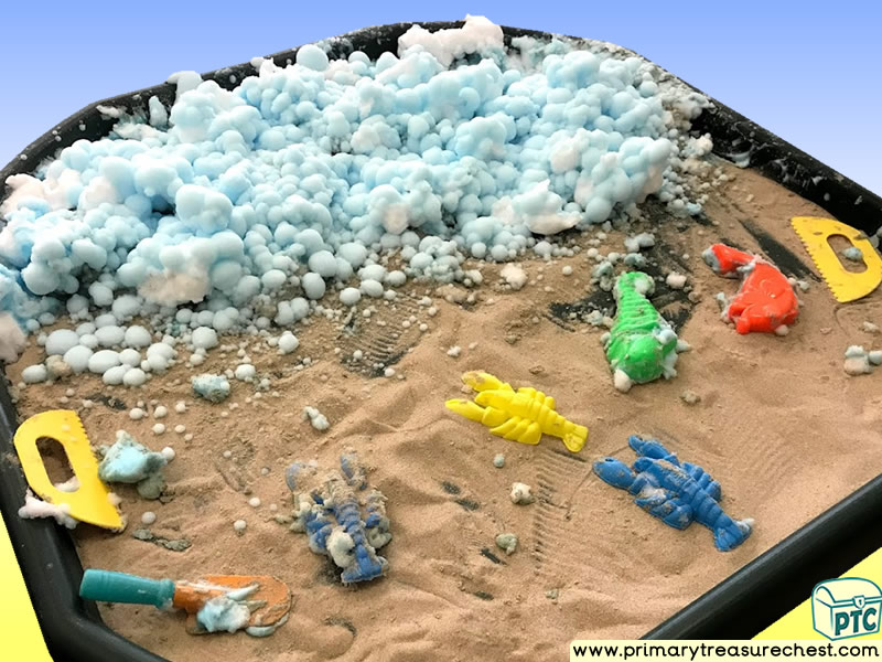Sea life - Under the Sea Themed Sand Multi-sensory - Mouldable Soap Tuff Tray Ideas and Activities