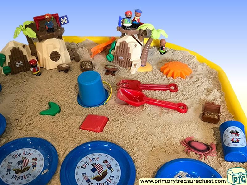 Pirates - Pirate Island Themed Small World Multi-sensory - Sand Tuff Tray Ideas and Activities
