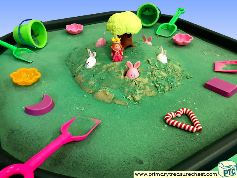 Easter - Easter Bunny - Rabbits Themed Small World Multi-sensory – Sand Tuff Tray Ideas and Activities