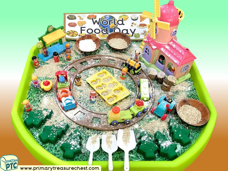 Food - World Food Day Themed Small World Multi-sensory Cereals Tuff Tray Ideas and Activities
