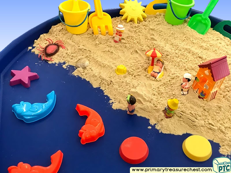 Seaside - Beach - Summertime - Under the Sea Themed Small World Multi-sensory - Sand Tuff Tray Ideas and Activities