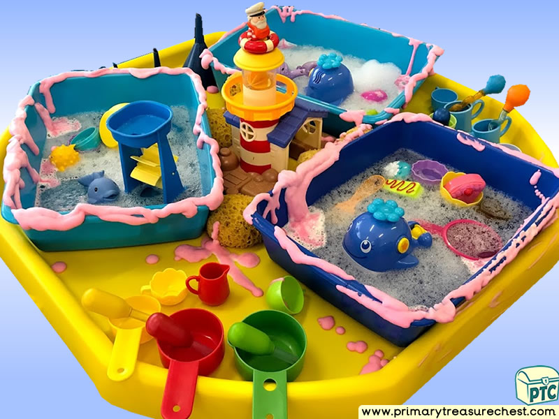 Sea life - Under the Sea - Lighthouse Themed Water Multi-sensory - Mouldable Soap Tuff Tray Ideas and Activities