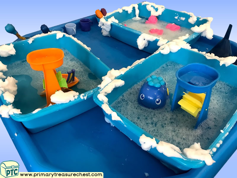 Sea life - Under the Sea Themed Water Multi-sensory - Mouldable Soap Tuff Tray Ideas and Activities