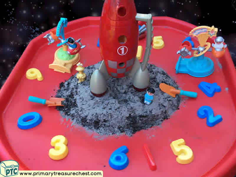 Space - Rocket - Astronauts - Alien - Mars  Themed Numbers Multi-sensory Tuff Tray Ideas and Activities