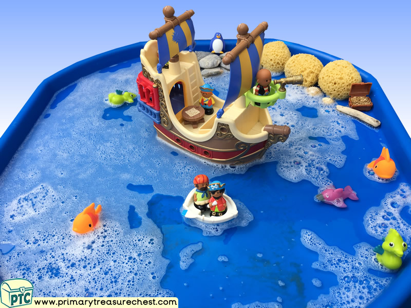 Pirates - Pirate Ship Themed Small World Multi-sensory - Water Tray Ideas and Activities
