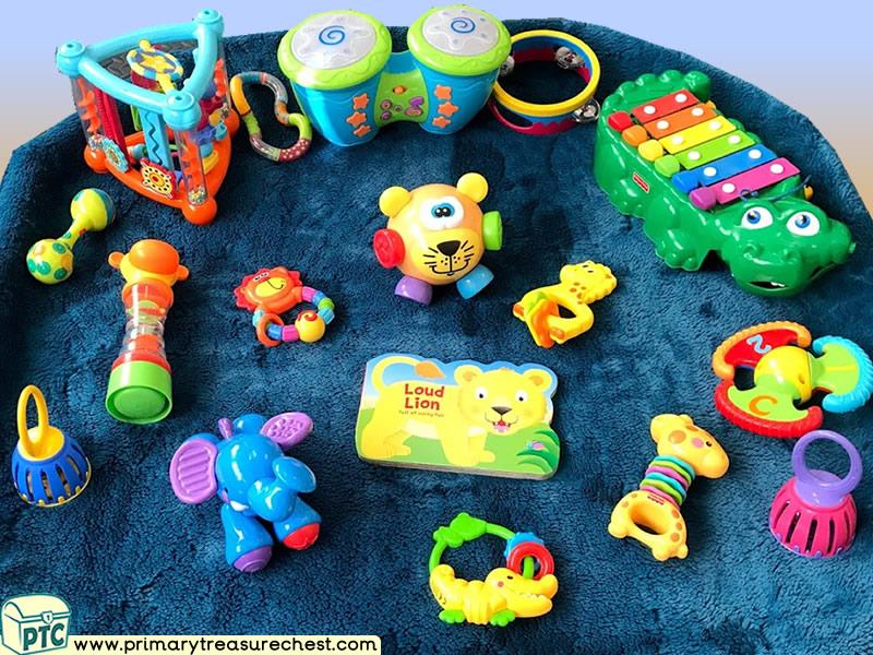 Jungle Animal - Safari Themed Sensory Toys Multi-sensory Instruments Tuff Tray Ideas and Activities