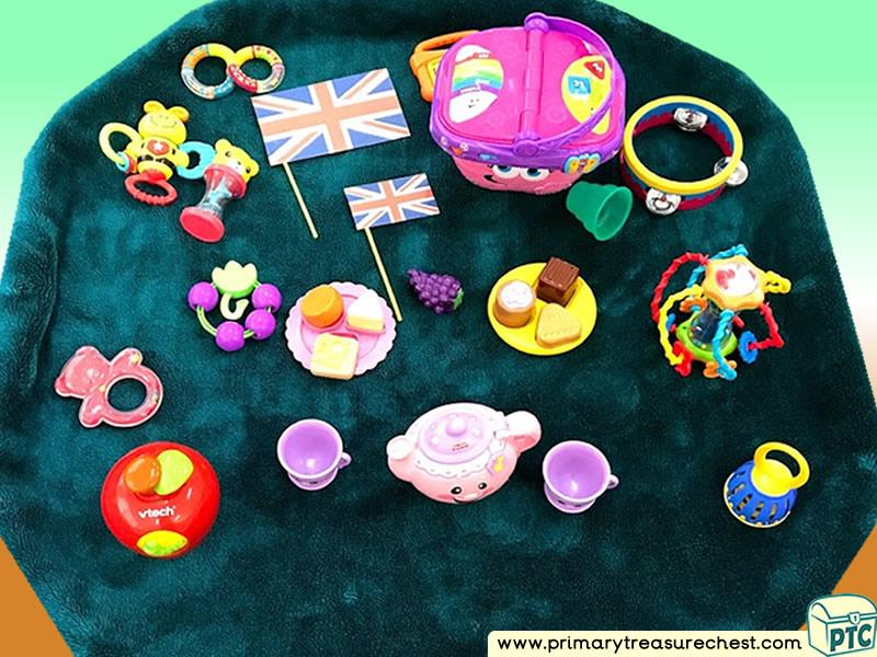 Food - Picnic - Afternoon Tea Themed Sensory Toys Multi-sensory Tuff Tray Ideas and Activities