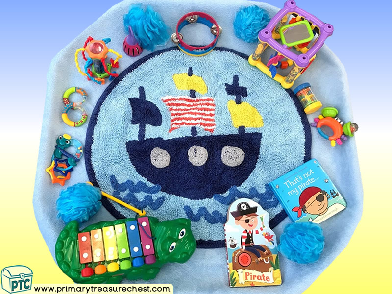 Pirates - Pirate Ship - That's Not My Pirate Themed Sensory Toys Multi-sensory - Instruments - Books Area Tuff Tray Ideas and Activities