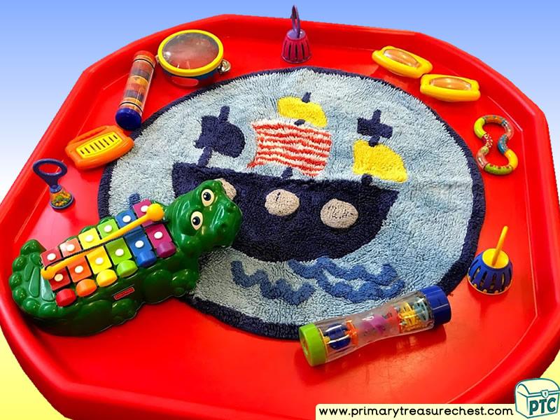 Pirates - Pirate Ship Themed Sensory Toys Multi-sensory - Instruments Tuff Tray Ideas and Activities