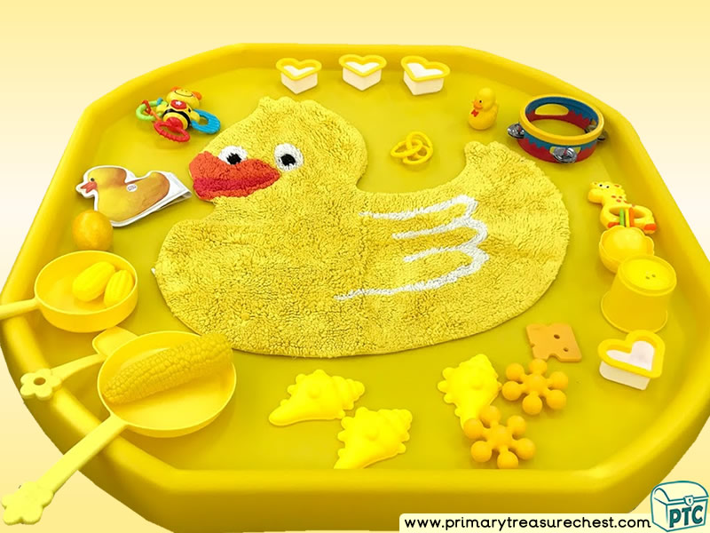Colour Yellow - Colour Recognition Themed Sensory Toys Multi-sensory Tuff Tray Ideas and Activities