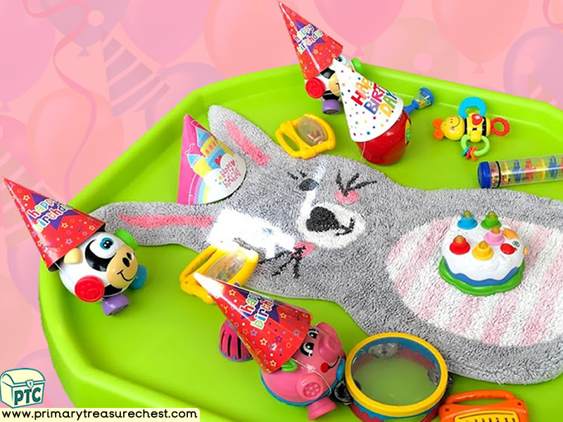 Birthday - Rabbit - Easter - Farm Animal Themed Sensory Toys - Multi-sensory Tuff Tray Ideas and Activities