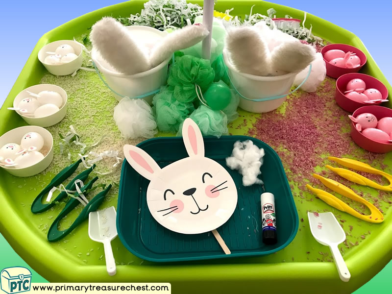 Easter - Easter Bunny - Rabbit Themed - Creative Multi-sensory Discovery Tuff Tray Ideas and Activities