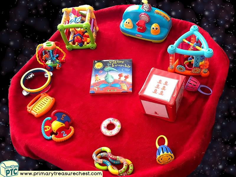 Space - Astronauts - Planet - Mars - Alien Themed Sensory Toys Multi-sensory Tuff Tray Ideas and Activities
