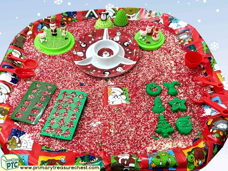 Christmas Small World Play Activity Idea - Rice - Role Play  Sensory Play - Tuff Tray Ideas Early Years – Tuff Spot