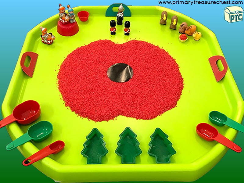 Remembrance Day Sensory Small World Play Activity Idea
