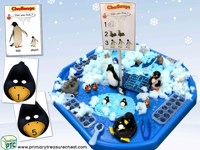 Christmas/Winter – Penguin Themed Small World - Multi-sensory - Rice - Mouldable Soap Tuff Tray Ideas and Activities
