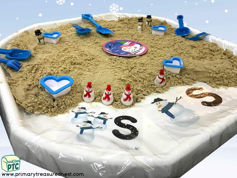 Christmas / Winter Themed Small World Sand Play Tuff Tray Activity Idea