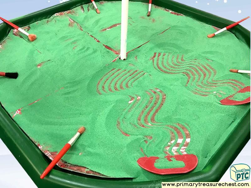 Christmas / Winter Small World Sand Play Activity Idea - Role Play  Sensory Play - Tuff Tray Ideas