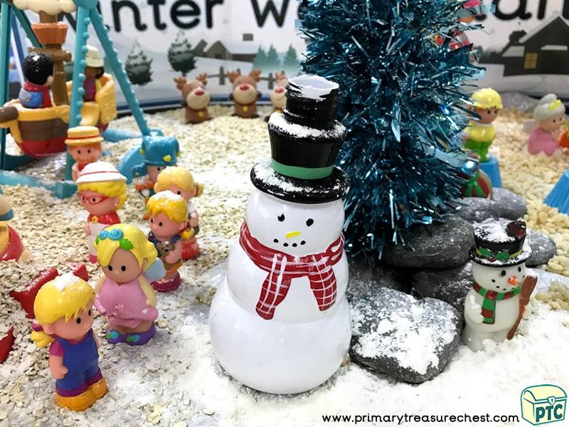 Christmas/Winter Wonderland - Snowman - Fun Fair Themed Small World - Mark Making Multi-sensory – Cereals - Rice Tuff Tray Ideas and Activities