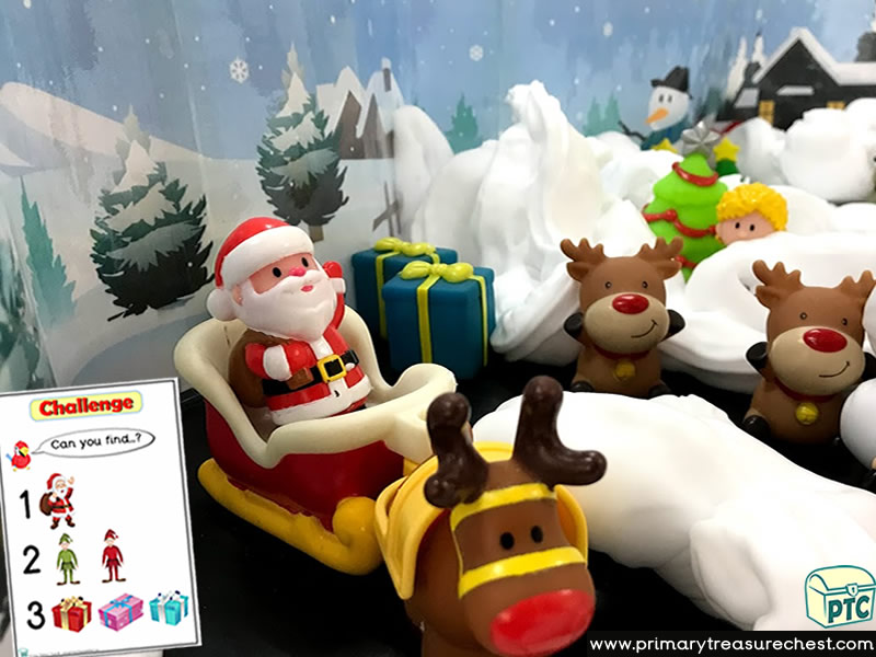 Christmas/Santa's Grotto Themed Small World - Multi-sensory – Mouldable Soap Tuff Tray Ideas and Activities