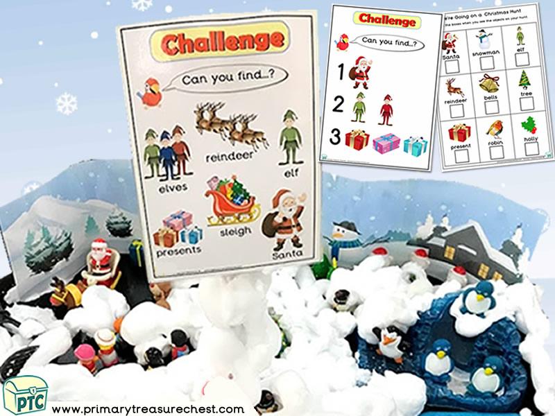 Christmas/Winter – Santa Themed Small World - Multi-sensory – Mouldable Soap Tuff Tray Ideas and Activities