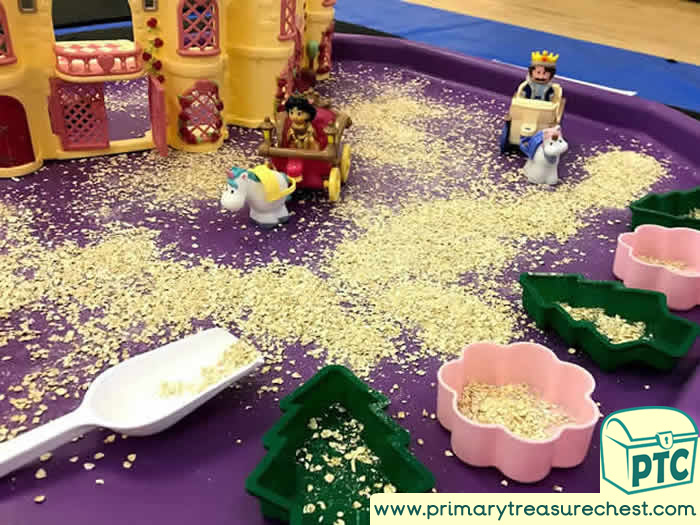 Castles and Princesses Small World Play Role Play - Sensory Play - Tuff Tray Ideas Early Years / Nursery / Primary